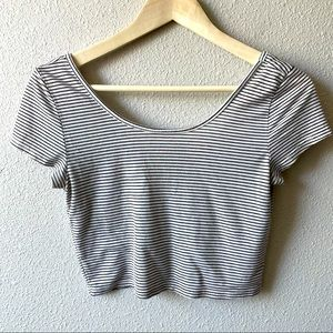 American Eagle Outfitters Striped Crop Top Small